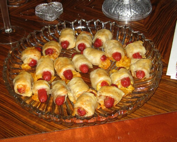 pigs in blankets. Pigs in a Blanket go well