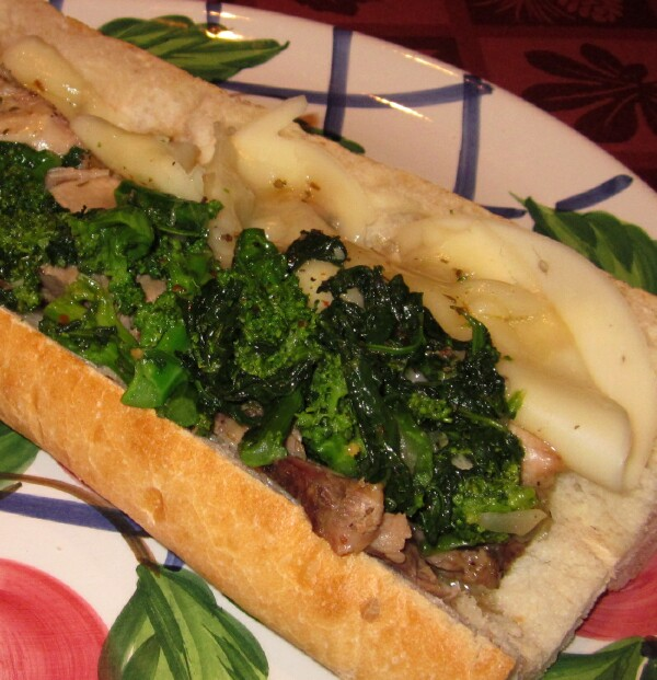 Roast Pork , broccoli rabe and aged provolone in the style of Dinic's ...